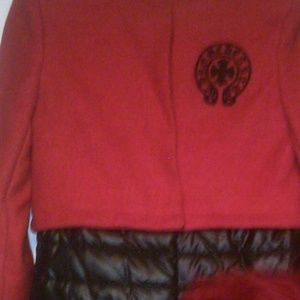 New Chrome Hearts Red Wool Coat * *Make  An Offer*